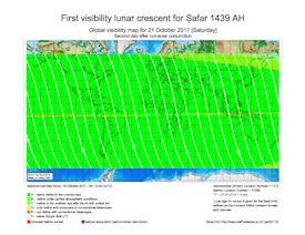 Visibility Map for Safar 1439 AH (b)