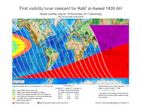 Visibility Map for Rabi-ul Awwal 1439 AH (a)