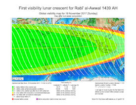 Visibility Map for Rabi-ul Awwal 1439 AH (b)
