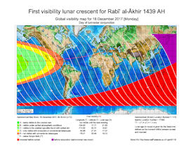 Visibility Map for Rabi-ul Akhir 1439 AH (a)