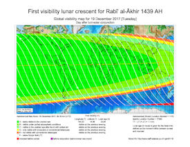 Visibility Map for Rabi-ul Akhir 1439 AH (b)