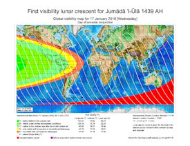 Visibility Map for Jumada Al-Ula 1439 AH (a)
