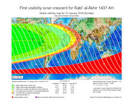 Visibility Map for Rabi-ul Thani 1437 AH (a)