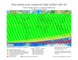 Visibility Map for Rabi-ul Thani 1437 AH (b)