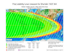 Visibility Map for Shaban 1437 AH (b)