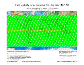 Visibility Map for Shaban 1437 AH (c)