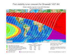 Visibility Map for Shawwal 1437 AH (a)
