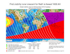 Visibility Map for Rabi-ul Awwal 1438 AH (a)