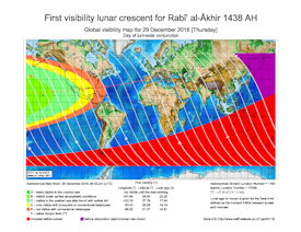 Visibility Map for Rabi-ul Thani 1438 AH (a)
