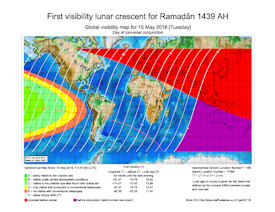 Visibility Map for Ramadan 1439 AH (a)