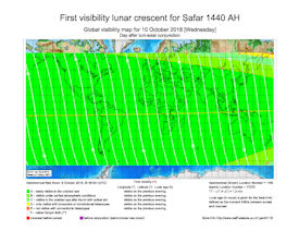 Visibility Map for Safar 1440 AH (b)