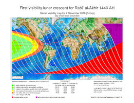 Visibility Map for Rabi-ul Thani 1440 AH (a)