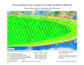 Visibility Map for Rabi-ul Akhir 1440 AH (b)