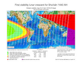 Visibility Map for Shaban 1440 AH (b)