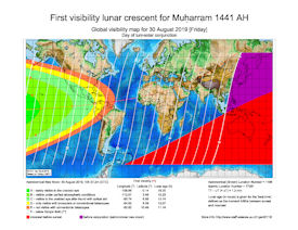 Visibility Map for Muharram 1441 AH (a)