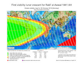 Visibility Map for Rabi-ul Awwal 1441 AH (a)