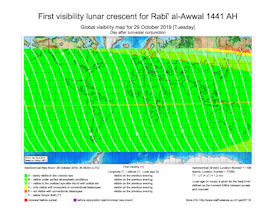Visibility Map for Rabi-ul Awwal 1441 AH (b)