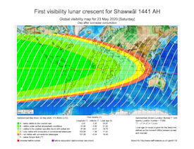Visibility Map for Shawwal 1441 AH (b)