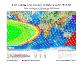 Visibility Map for Rabi-ul Thani 1442 AH (a)